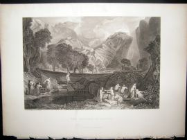 After Turner 1860 Antique Print, The Goddess of Discord